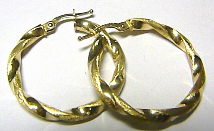 Mohutné obrovské plné zlaté kruhy (matné a lesklé zlato) pr.28mm 585/2,13gr H210