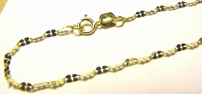 Dámský zlatý řetízek - čtyřlístky pro štěstí (vzor) 585/1,02gr 50cm P248