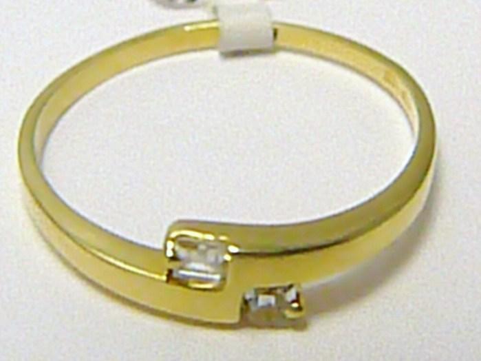 Zásnubní zlatý prsten osazený čirými zirkony 585/1,65 gr vel. 58 P284
