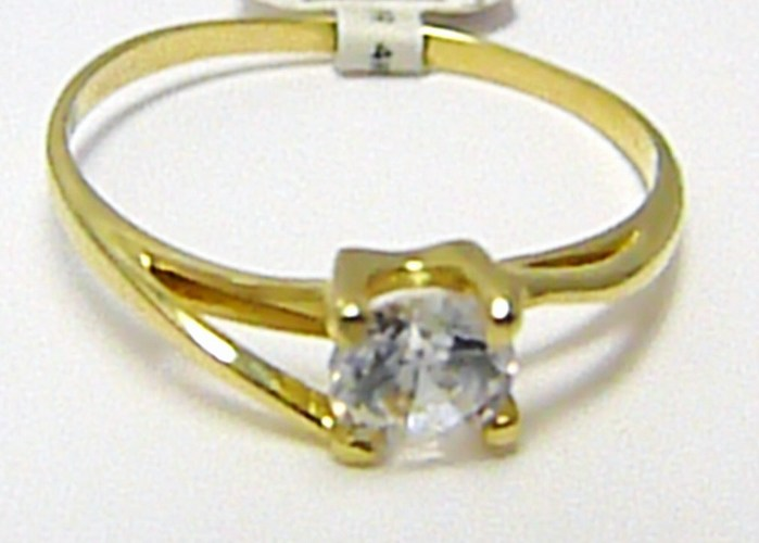 Luxusní zásnubní zlatý prsten s velkým zirkonem 585/1,37 gr vel. 57 P285 (4515042)