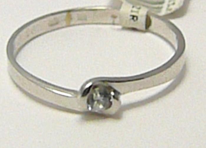 Zásnubní prsten z bílého zlata s osazeným zirkonem 585/1,0 gr vel. 52 P292 (4565038)