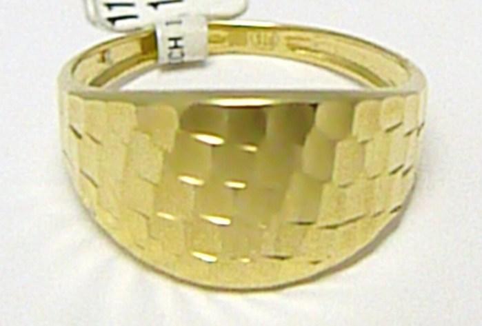 Mohutný celozlatý velký prsten ze žlutého zlata 585/1,57gr vel.55 P299
