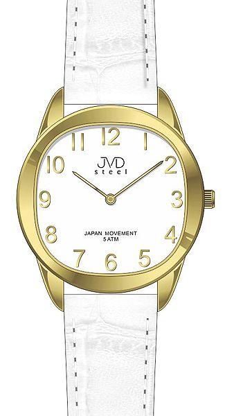 Dámské elegantní zlato - bílé náramkové hodinky JVD steel J4115.3