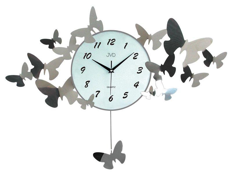 Paprskovité obrovské designové nástěnné hodiny JVD design HJ01
