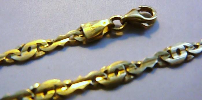 Mohutný luxusní silný zlatý řetízek - zlatý řetěz 45cm 585/9,8gr T114
