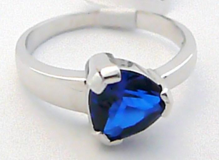 Luxusní zásnubní prsten z bílého zlata s velkým modrým safírem 585/3,60 gr Z069