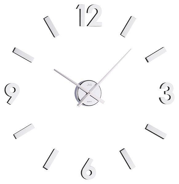 Exkluzivní stříbrné nástěnné nalepovací hodiny JVD HB11