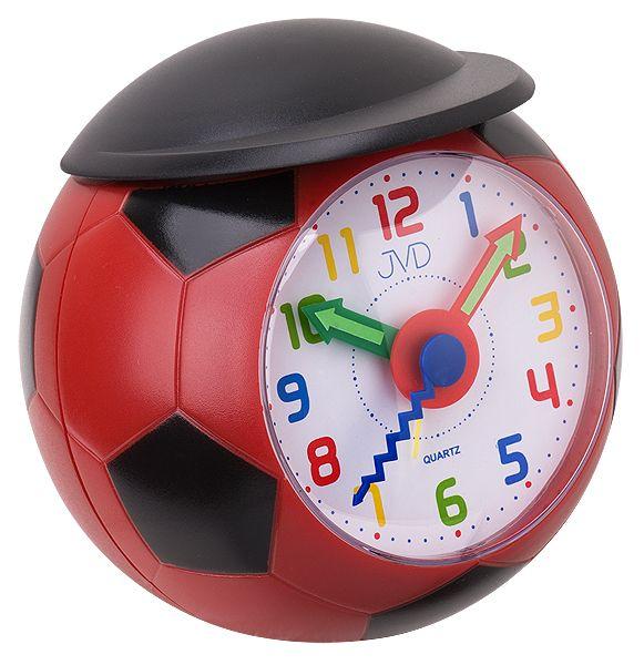 Dětský fotbalový budík JVD quartz SR819.1 - kopací míč