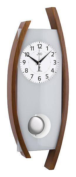 Rádiem řízené dřevěné kyvadlové hodiny JVD NR12092/11 POŠTOVNÉ ZDARMA!! (POŠTOVNÉ ZDARMA!!)