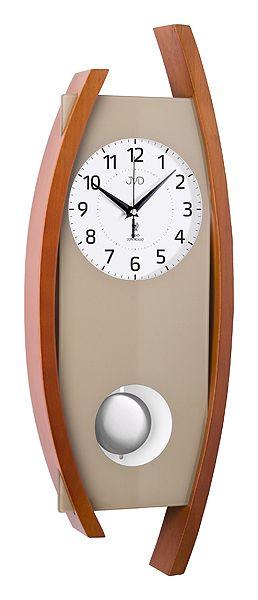Rádiem řízené dřevěné kyvadlové hodiny JVD NR12092/41 POŠTOVNÉ NEPLATÍTE!!! (POŠTOVNÉ ZDARMA!!)