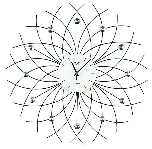 Paprkovité obrovské designové hodiny design JVD HJ71 průměr 60cm