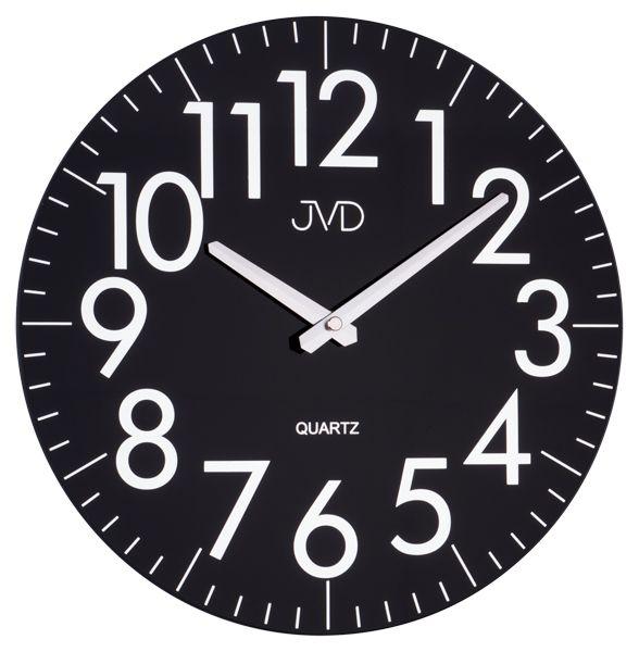 Černé skleněné designové hodiny JVD quartz HA13.1