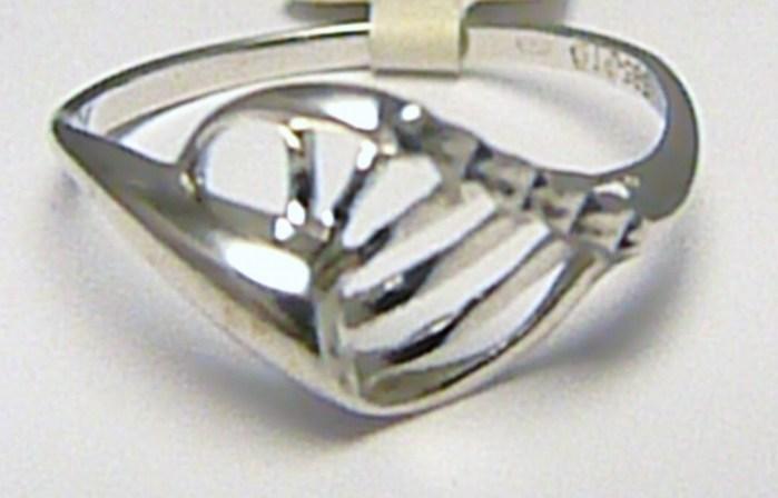 Dámský celozlatý prsten z bílého zlata 585/1,42gr vel. 55 P359