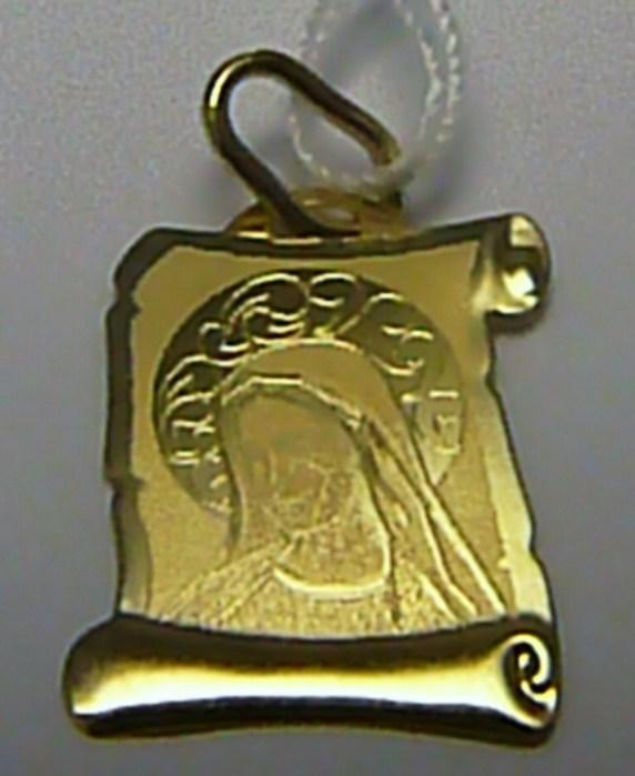 Zlatá madonka - zlatý přívěsek - gravírovaná madonka 585/0,51gr H286