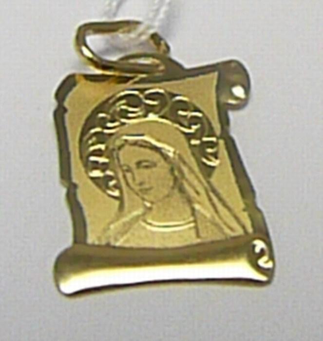 Zlatá madonka - zlatý přívěsek - gravírovaná madonka 585/0,49gr H287
