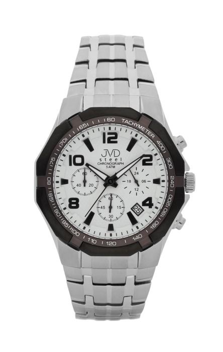 Luxusní pánské chronografy - hodinky JVD steel J1091.1 se stopkami
