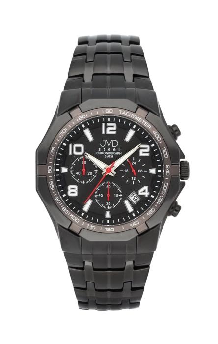 Luxusní pánské chronografy - hodinky JVD steel J1091.3 se stopkami