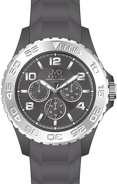 Chronograf pro teenagery voděodolné hodinky JVD basic J3006.1 - 5ATM barevné
