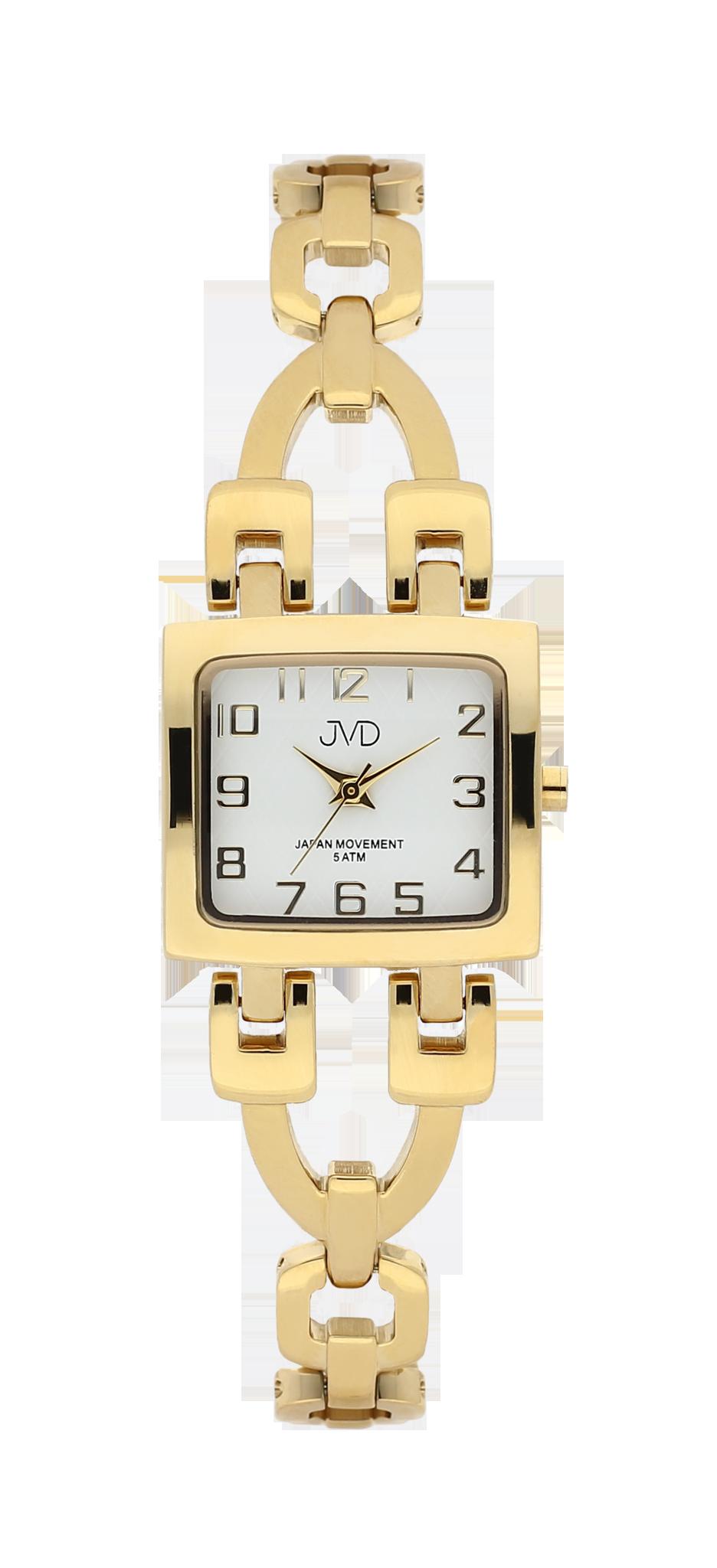 d6daa7f2c9f Zlacené elegantní hranaté dámské hodinky JVD steel J4127.3 - 5ATM ...