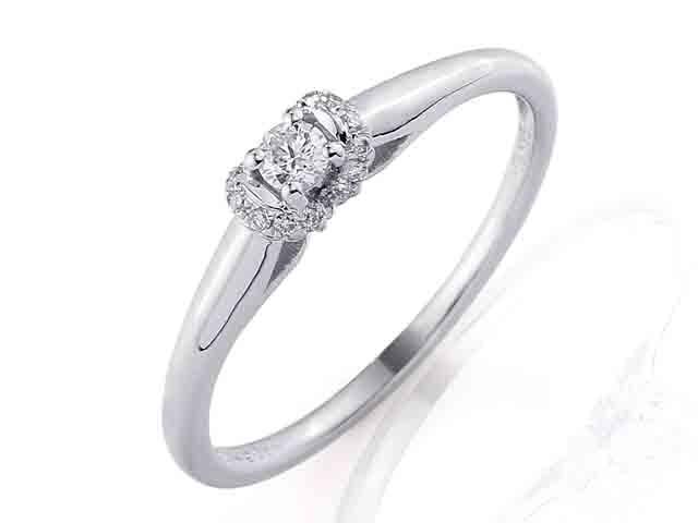 Zásnubní prsten s diamantem, bílé zlato brilianty 3860844-0-53-99 (3860844-0-53-99)