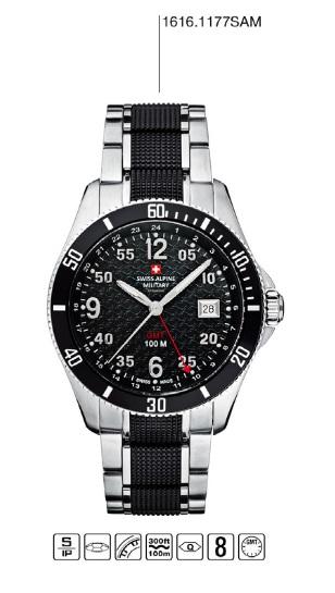 Luxusní pánské vodotěsné hodinky Swiss Alpine Millitary Grovana 1616.1177SAM 239da83376