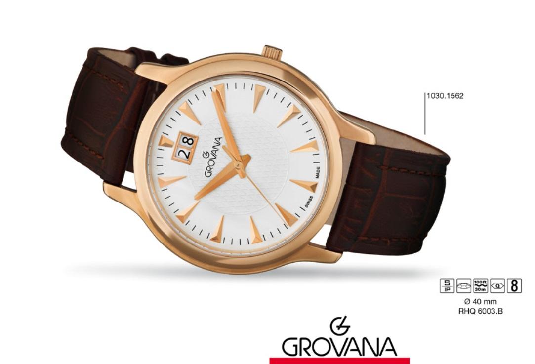 Klasické švýcarské značkové hodinky Grovana TRADITIONAL 1030.1562