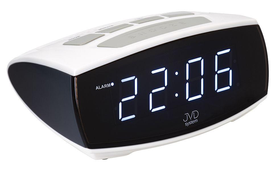 Digitální budík JVD system do sítě JVD SB0933.4 bílé LED číslice