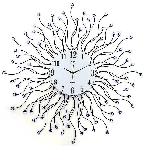 Luxusní kovové obrovské nástěnné designové hodiny JVD HJ19.1 pr. 78cm