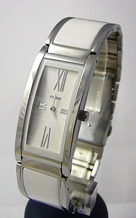 Luxusní bílé keramické dámské voděodolné hodinky Foibos 1K81 3ATM