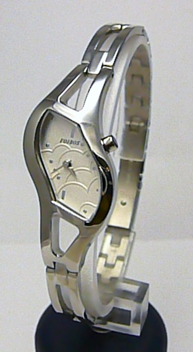 Luxusní dámské elegantní stříbrné hodinky Foibos 21765 3ATM