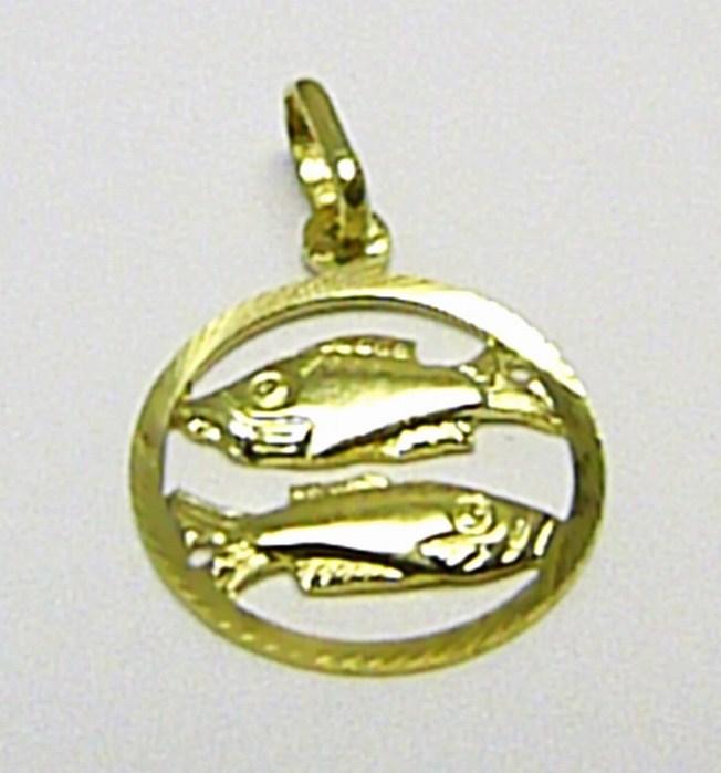 Zlatý přívěsek - zlaté znamení RYBY 585/0,80gr T145