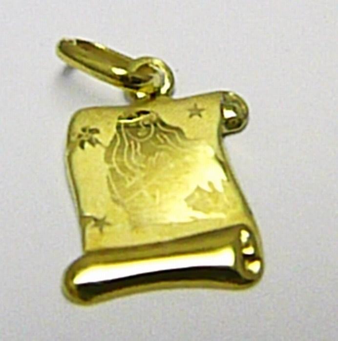 Zlatý přívěsek - zlaté znamení PANNA na pergamenu 585/0,40gr T146