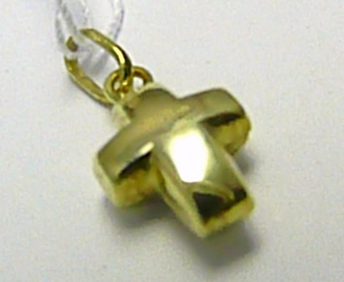 Zlatý křížek - větší přívěsek 585/,45gr T148