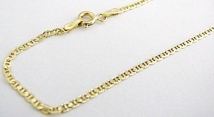 Mohutný luxusní těžký zlatý řetízek s gravírováním 585/2,78gr 50cm H363