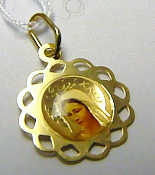 Zlatá madonka - zlatá madona přívěsek 585/0,47gr H390