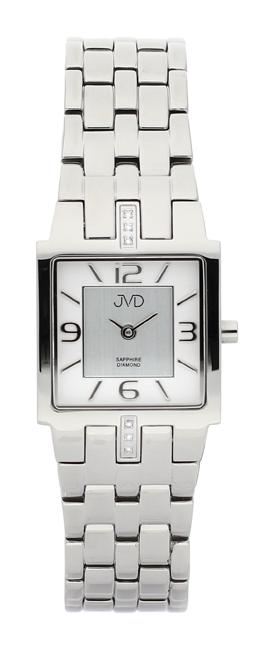 Dámské luxusní hodinky JVD steel J4034.2 s diamanty a safírovým sklem
