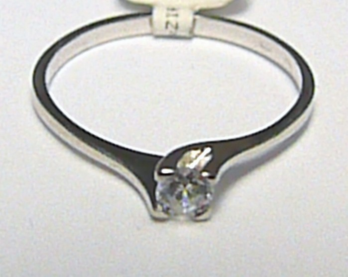 Luxusní zásnubní prstýnek z bílého zlata se zirkonem 585/1,05gr vel. 55 P387 (6860062)