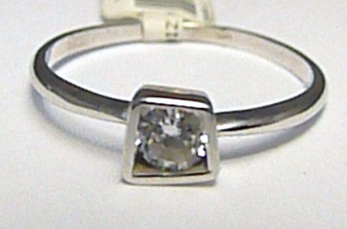 Luxusní zásnubní prsten z bílého zlata se zirkonem 585/1,60 gr vel. 57 P389 (6860077)