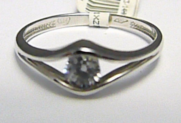 Luxusní mohutný zásnubní prsten z bílého zlata se zirkon 585/1,75gr vel. 54 P390 (1860389)