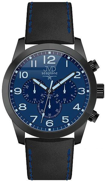 Pánský ocelový chronograf vodotěsné hodinky JVD seaplane JC628.2 - 10ATM