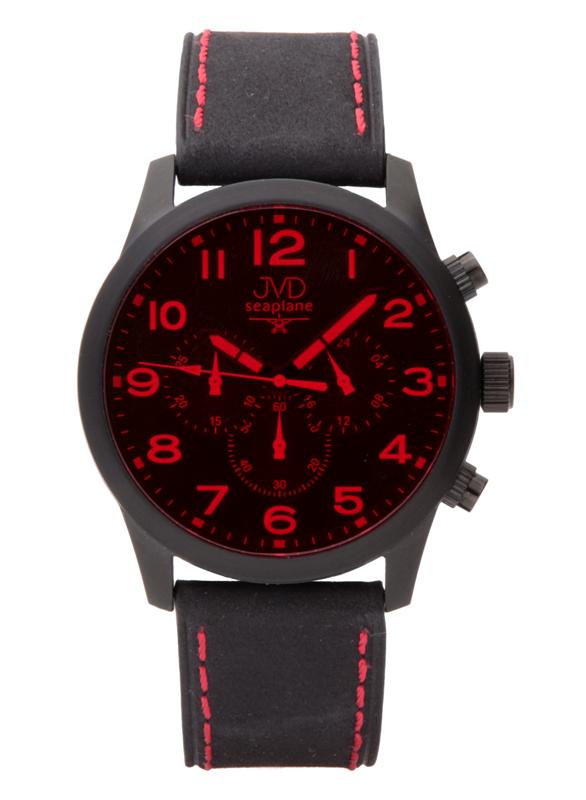 Pánský ocelový chronograf vodotěsné hodinky JVD seaplane JC628.3 - 10ATM