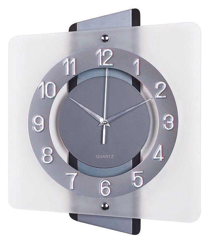 Luxusní skleněné moderní hodiny JVD quartz N20133.1