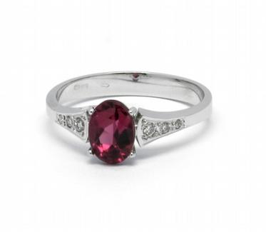 Diamantový prsten s brazilským turmalínem (0,888ct) 585/2,31 gr J-22560-13