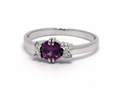 Luxusní zásnubní prstenek s růžovým safírem 585/1,92 gr J-21407-12
