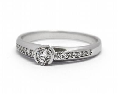 Luxusní zásnubní diamantový prsten přírodní diamant 585/2,07 gr J-22052-13