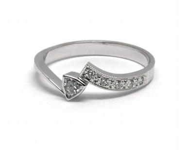 Luxusní zásnubní diamantový prsten přírodní diamant 585/2,13 gr J-21648-12 (J-21648-12)