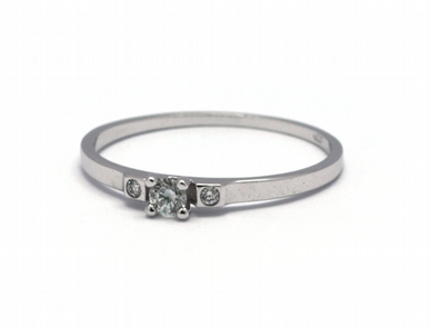 Dámský zásnubní diamantový prsten přírodní diamant 585/0,94 gr J-21251-12