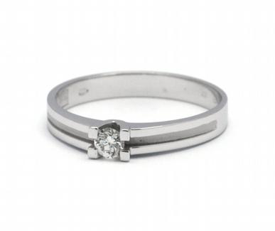 Luxusní zásnubní diamantový prsten přírodní diamant 585/1,96 gr J-21252-12 (J-21252-12)