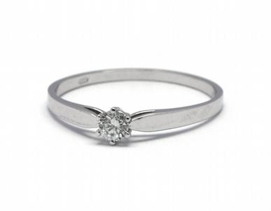 Luxusní zásnubní diamantový prsten přírodní diamant 585/1,06 gr J-21253-12