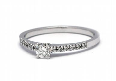 Luxusní zásnubní diamantový prsten přírodní diamant 585/1,89 gr J-21039-12 (J-21039-12)